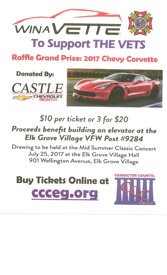 Help the Vets, and you could win a 2017 Corvette